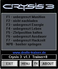 Читы Crisis 3 trainer +8