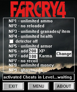 Читы для Far Cry 4