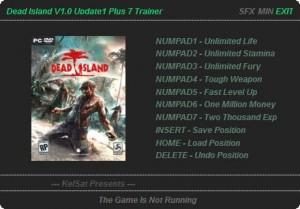 Dead Island v1.0 Update 1 Trainer + 7