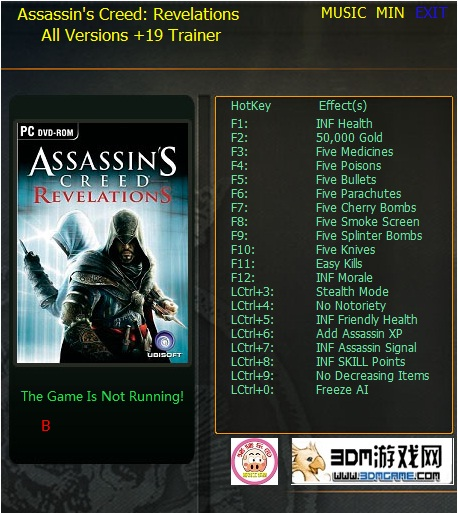 Assassin's Creed - Revelations: Trainer +19