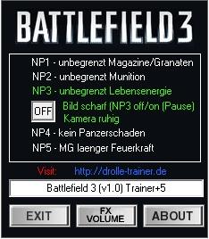 Battlefield 3 trainer +5